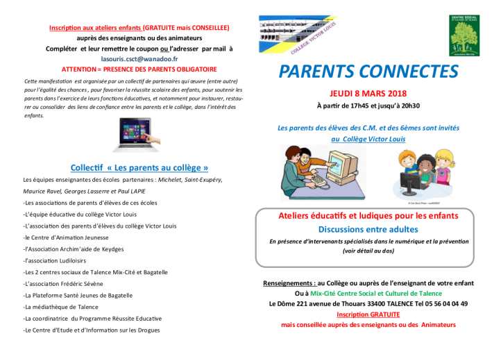 parents connectés plaquette